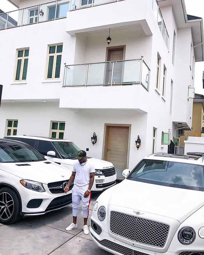 Davido shows off his car garage