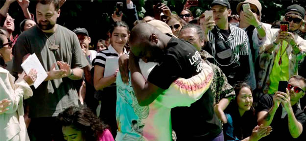 Virgil Abloh shared some tears with Kanye West